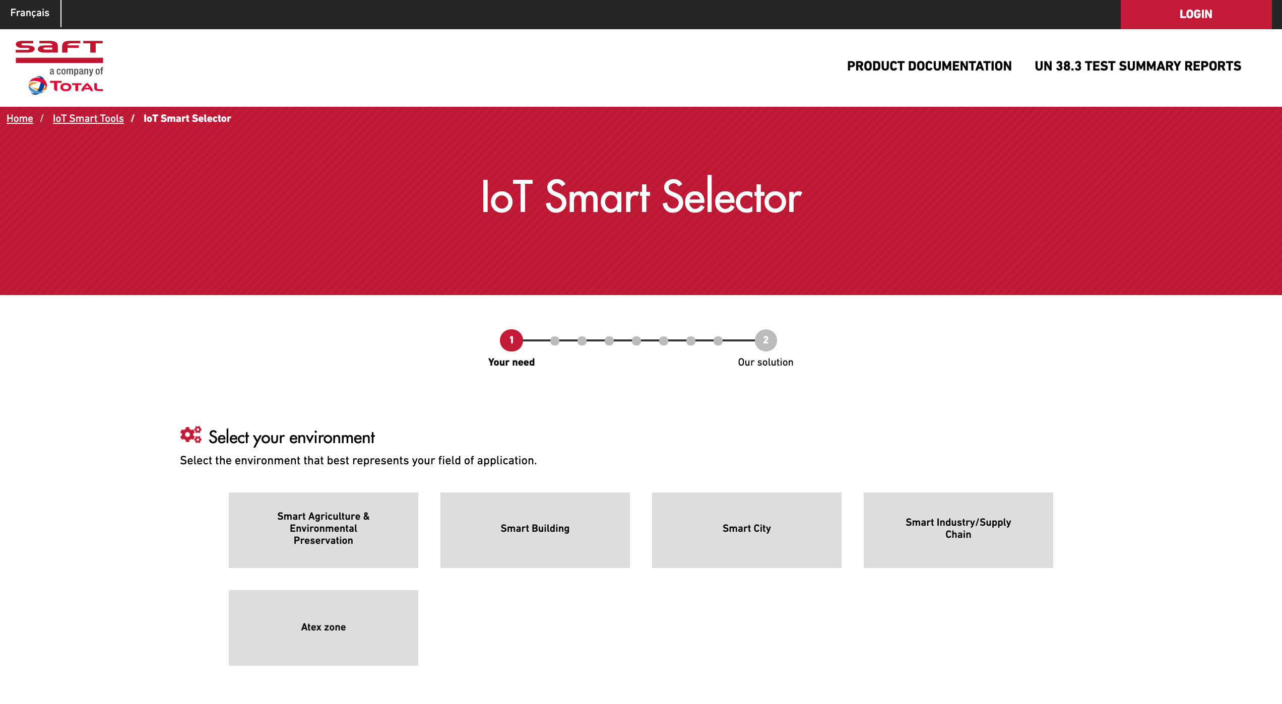 Smart Selector Tool for IoT solutions