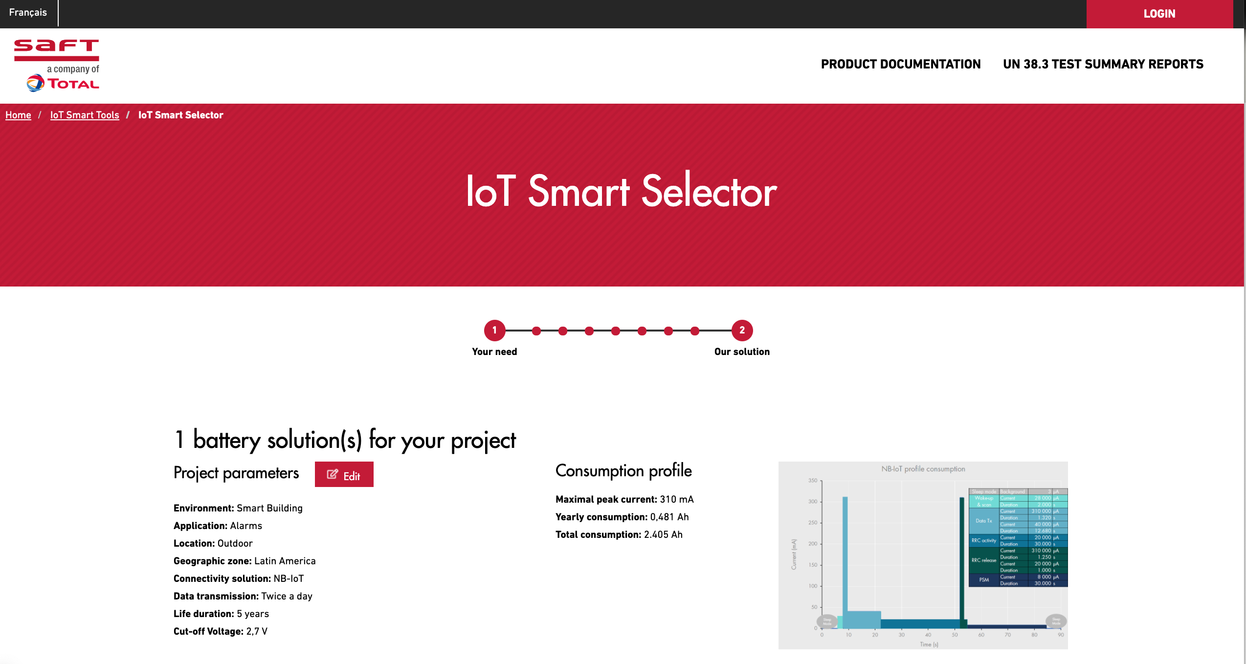 Smart Battery Selector for IoT Solutions