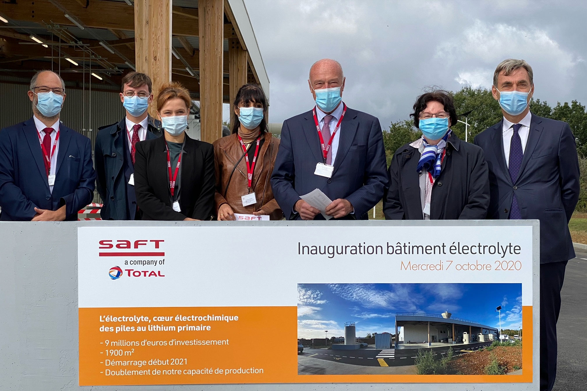Inauguration new electrolyte facility Saft Poitiers 1