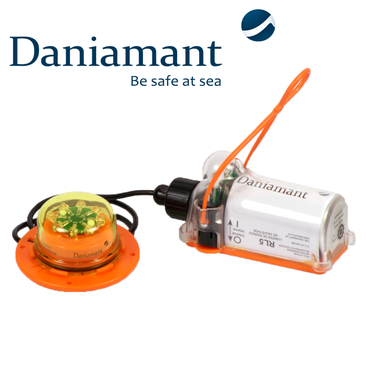 Daniament safety light equiped by Saft battery